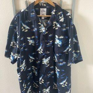 Guy Harvey Shark Button Down Shirt size XXL